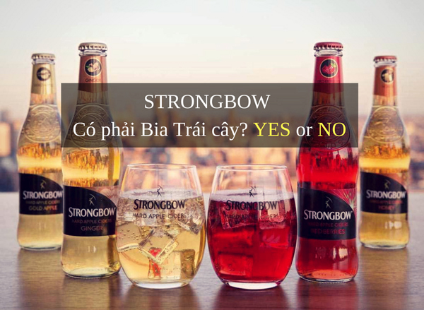 pha cocktail từ strongbow